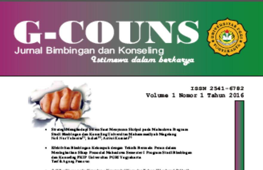 G-Couns Jurnal Bimbingan dan Konseling Meraih Kepercayaan Dari Para Penulis